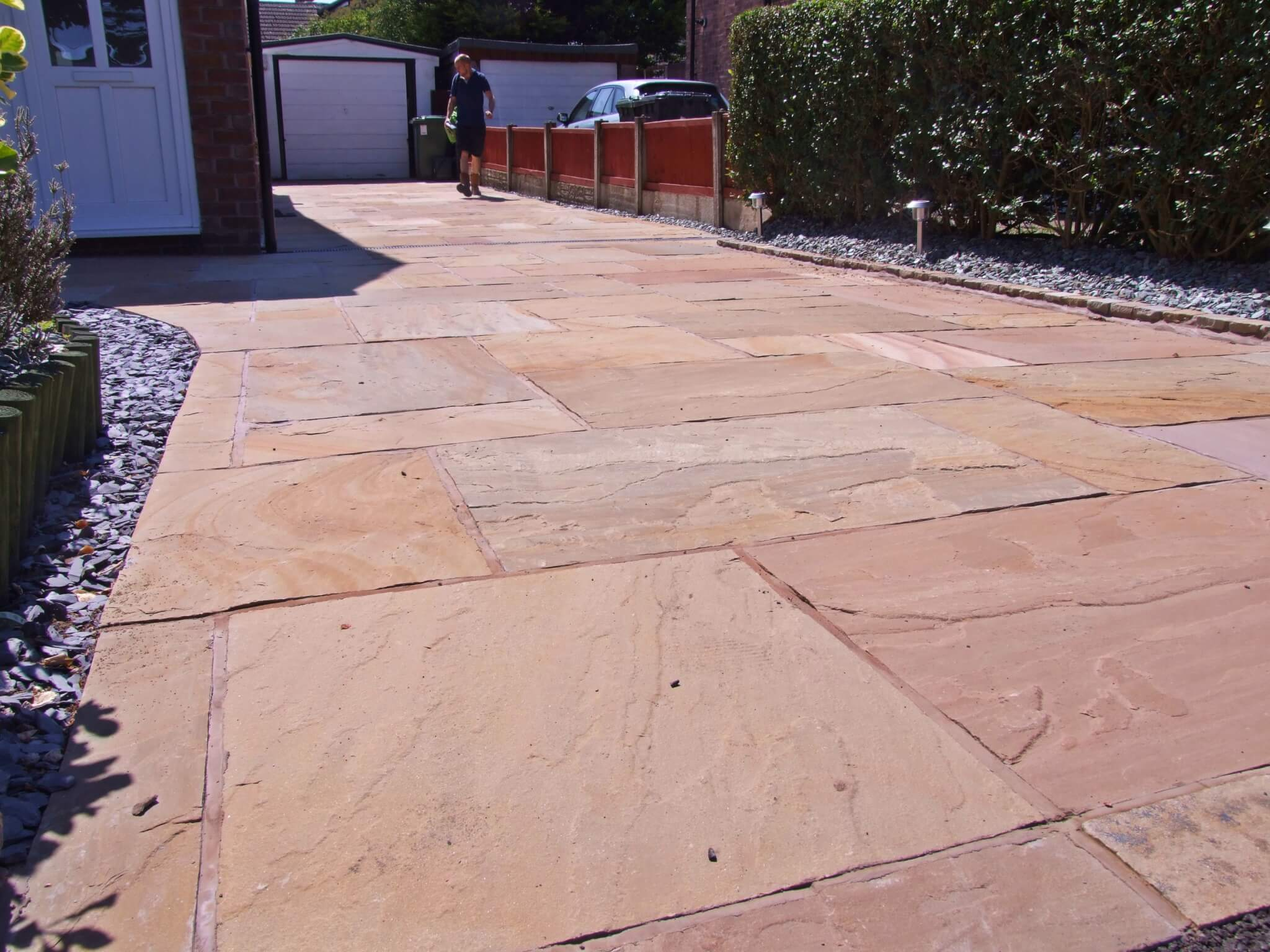 Indian Stone Flags >> Natural Stone Paver Driveway Formby Merseyside | Abel ...